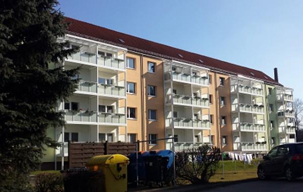 Anbau Balkonanlagen in Flöha 2014 für Wohnungsgenossenschaft Flöha